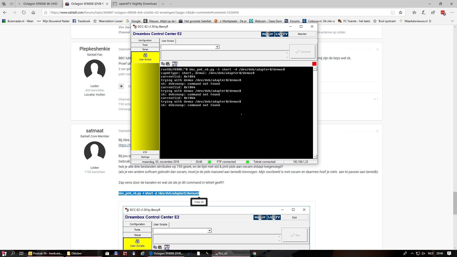 Octagon SF8008 (DVB-S2x,DVB-C/T2) ervaringen - pagina 2